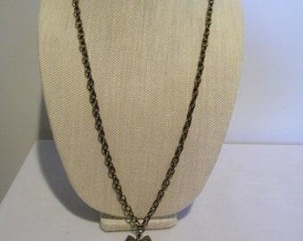 Vintage Enamel Owl Pendant Necklace