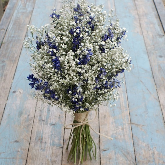 Boho Midnight Dried Flower Wedding Bouquet