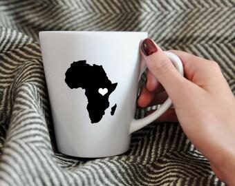 Africa Porcelain Mug.  Adoption, Travel, Mission, Custom