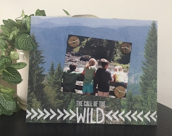 Into The WILD - The Great Outdoors Handmade Gift Present Home Decor Magnetic Picture Frame Size 9 x 11 Holds 5 x 7 Photo - Hiking Parks