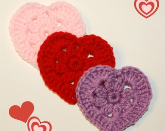 Heart Crochet Pattern, Instant Download Pdf
