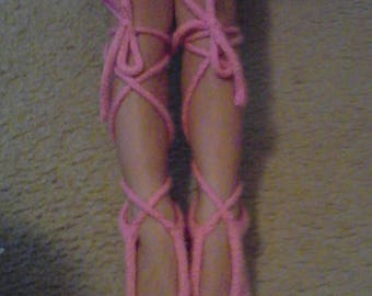 Knitted Ballet Slippers for Adults
