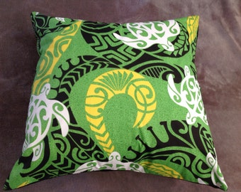 Hawaiian print throw pillow