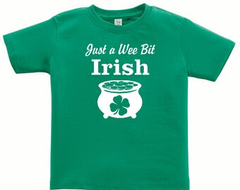 Just a Wee Bit Irish- St. Patrick's Day Short Sleeve T-shirt for toddler/youth