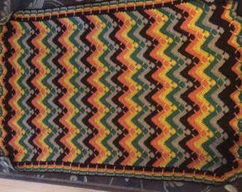 Fall colors ripple and post afghan