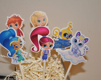 Shimmer and Shine Cupcake Toppers set of 12