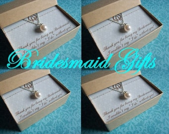 4 BRIDESMAID NECKLACES, Bridesmaid Jewelry Set of 4, Bridesmaid Jewelry Sets, Bridesmaid Necklaces, Bridesmaid Sets, Bridesmaid Jewelry
