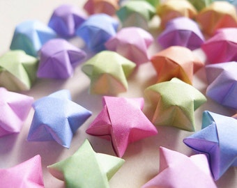 Origami Lucky Stars - Mixed Colors Wishing Stars/Embellishment/Gift Enclosure/Home Decor