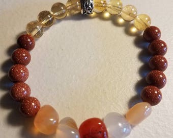Stand Up For Yourself/Self Worth Custom Healing Crystal Bracelet