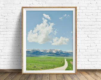"""landscape, instant download printable art, instant download prints, printable wall art, mountain landscape, nature - """"The End of the Day"""""""