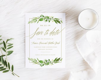 Save the Dates, Save the Date Photo Card, Printable Save the Dates, Botanical Save the Date, Modern Save the Date, Printable