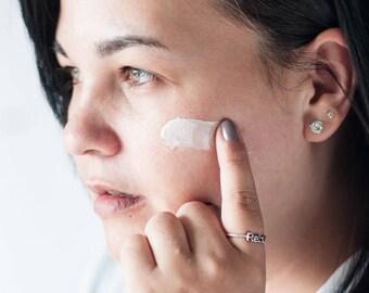 Raw Radiance Facial Moisturizer - Antioxidant Cream - Vitamin E Creme - Acne Lotion - Oily Skin Moisturizer - Vegan - Cruelty Free Skincare