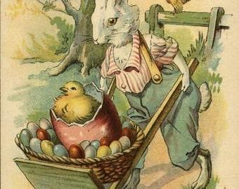 Bunny Ride Cross Stitch Pattern PDF