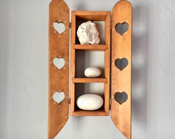 Home Decor Coastal Wood Distressed Shelf by SEASTYLE