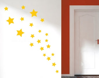 Set of Stars wall stickers art decals