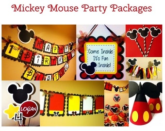 Mickey Mouse Inspired Birthday Party Packages