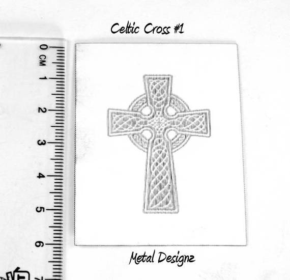 Laser Cut Texture Paper Rolling Mill Pattern Celtic Cross
