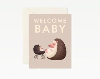 Hedgehog Baby Card