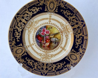 Rare antique Royal Worcester Cabinet Plate Artist Signed