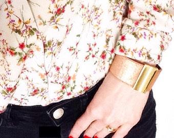pink gold leathercuff