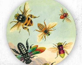 Bees, Insects plate
