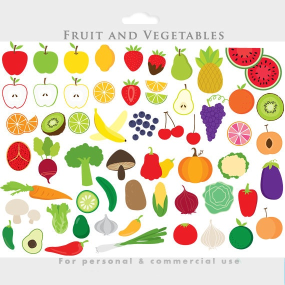 vegetable clipart fruit clip art apple clipart slices rh etsy com fruit and vegetable clip art borders fruit and veg clipart