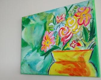 "Acrylic, Original Painting, Home Decor,  14"" X 10,5"""