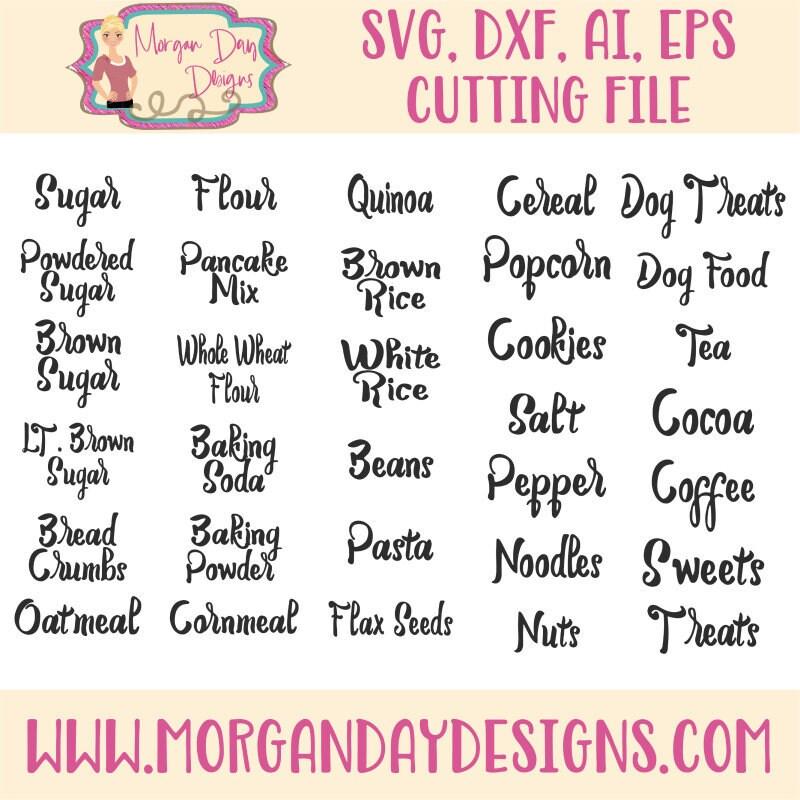 Canister Labels SVG Labels SVG Kitchen SVG Kitchen