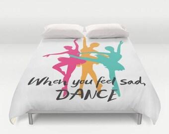 Dance Duvet Cover, Kids Bedding , Designer Bedding , Bedroom Decor , Dorm Bedding , Geometric