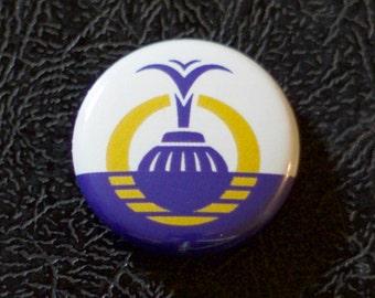 """1"""" Orlando FL flag button - Florida, city, pin, badge, pinback"""