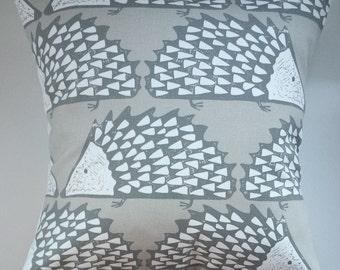 """Cushion Cover in Scion Spike The Hedgehog Mink 14"""" 16"""" 18"""" 20"""""""