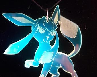 Pokemon inspired Glaceon pendant