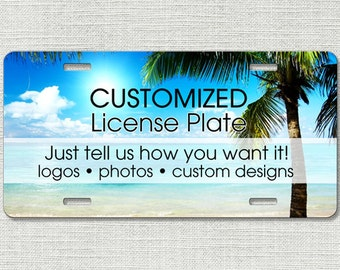 Custom License Plate Car Tag, Personalized License Plate 9999