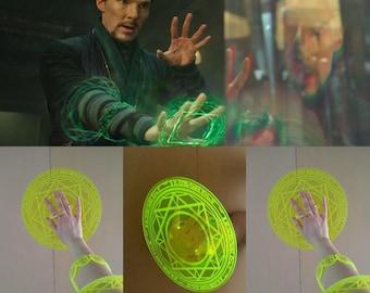 Dr Doctor Strange Marvel Magic Rings Spell Casting Glyphs Rune Plastic Cosplay Replica Prop Accessory