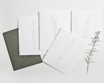 Illustrated Herbs Notecards | set of 4