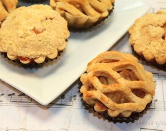 """Mini Pie, Gourmet Mini Fruit Pie - 6 pcs. of 3"""" mini pies"""