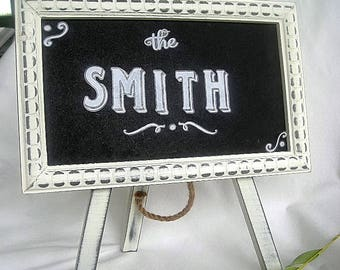 Wedding Chalkboard Sign White Wood Table Sign Frame w Easel Rustic Large Shabby Chic Menu Food Candy Cards Sign Blackboard White Primitive