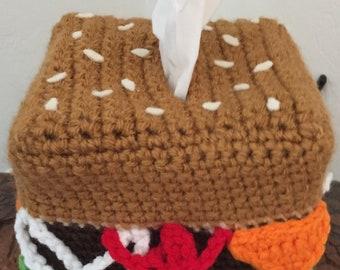 Cheeseburger Tissue Cozy