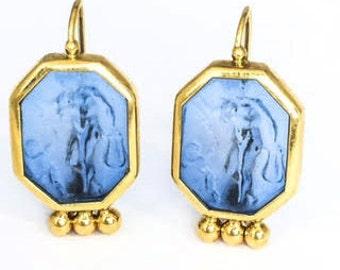 Tagliamonte Yellow Gold Venetian Octagon Earrings