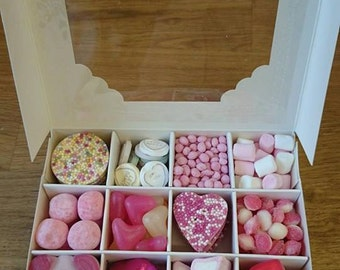 Boîte-cadeau rempli chocolat doux