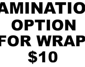 Wrap Lamination Overlaminate Option