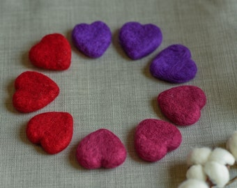 Tiny red/purple/plum heart