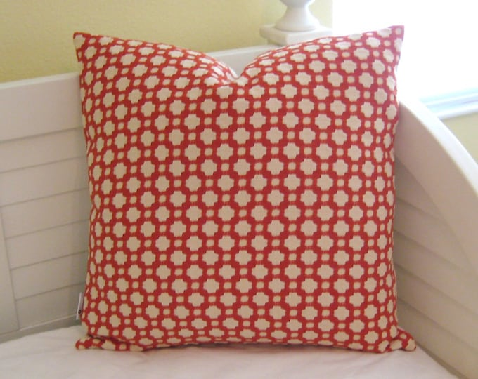 Schumacher Betwixt in Spark Designer Pillow Cover - Both Sides or Front Only - Square, Euro and Lumbar Sizes