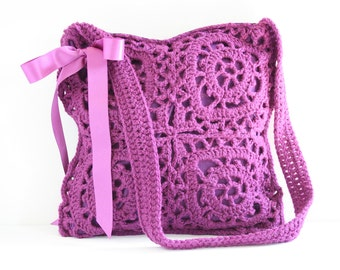 Crochet shoulderbag Polly