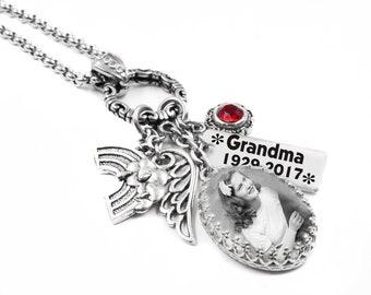 Memorial Necklace, Memorial Photo Necklace, Memorial Jewelry, Personalized Memorial Necklace, Photo Jewelry