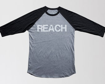 The REACH / ESCAPE Raglan Tee - Concrete/Asphalt