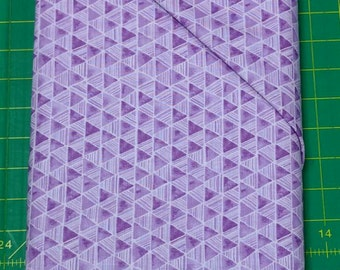 Bella fabric. purple lavender triangles geometric cotton quilting Exclusively Quilters 4365