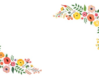 Bright Florals Paper Placemats - Set of 25