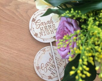 Wooden Table signs- Rustic bouquet signs.