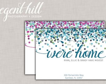 Printable We've Moved Postcard // New Address Postcard